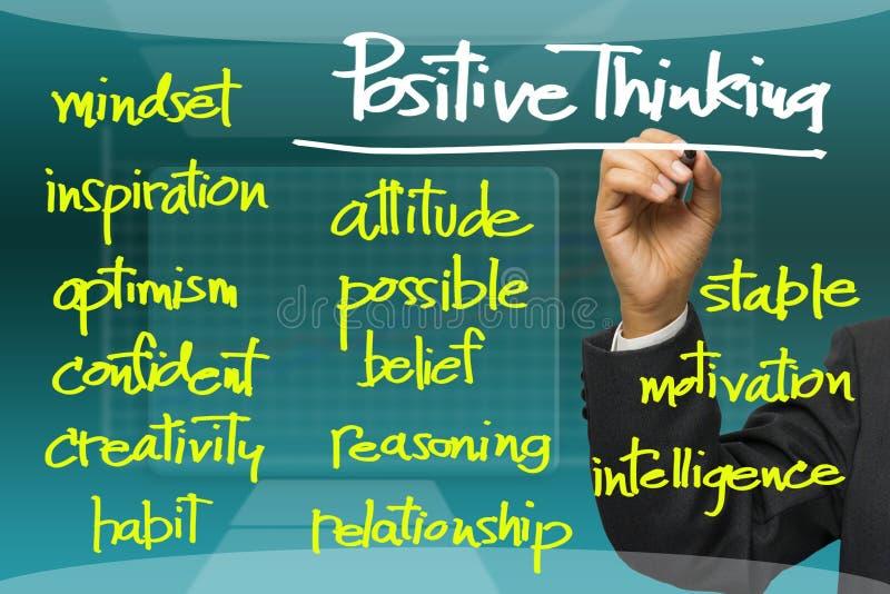 Positives Denken stockfoto