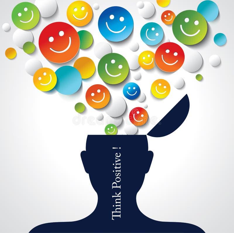 Positives Denken lizenzfreie abbildung