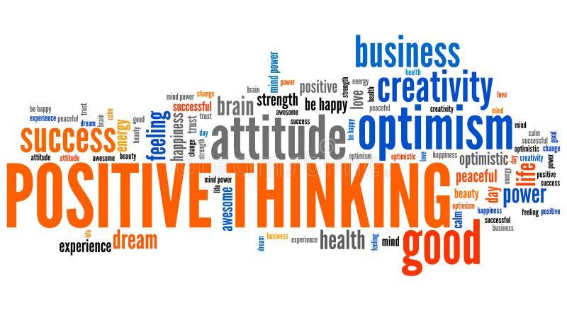 Positives Denken stock abbildung