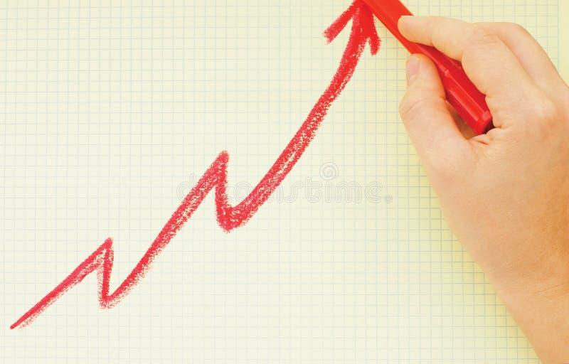 Positives Diagramm lizenzfreie stockfotografie