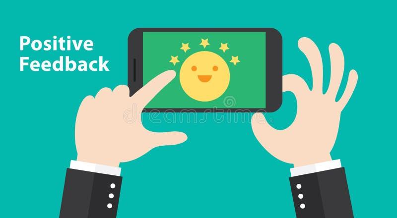 Positives Feed-back stock abbildung