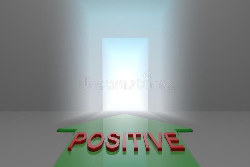 Positivo à porta aberta ilustração royalty free