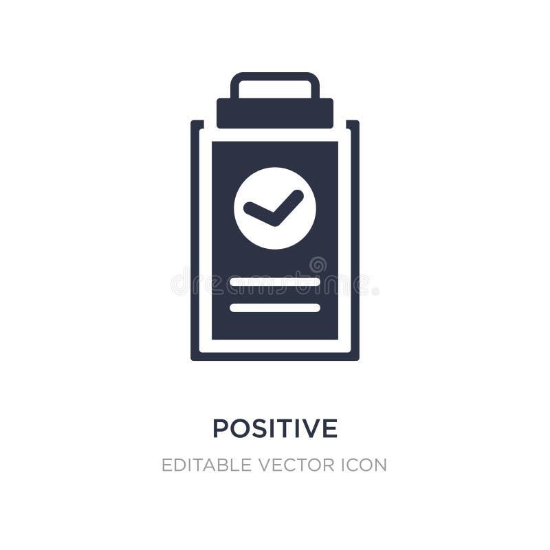 positivo verificato di un'icona della lavagna per appunti su fondo bianco Illustrazione semplice dell'elemento dal concetto medic illustrazione vettoriale