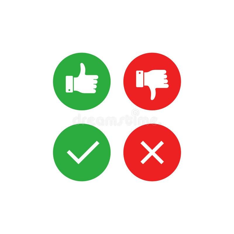 Positivo y colección del voto negativo libre illustration