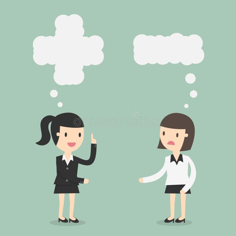 Positivo y pensamiento negativo libre illustration