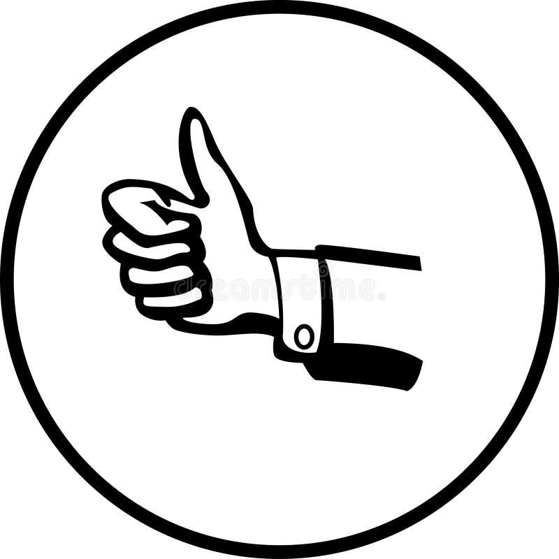 positivt tecken för hand royaltyfri illustrationer