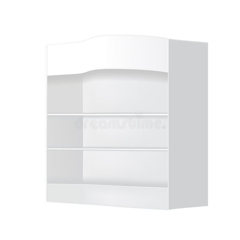 Posizione bianca esposizione all'aperto/dell'interno di probabilità di intercettazione di gray di pubblicità 3D illustrazione di stock