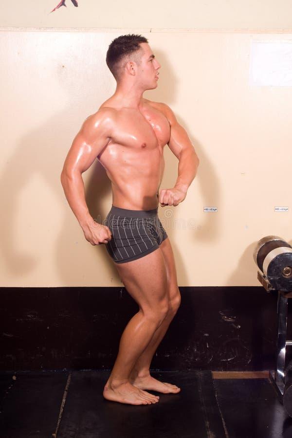 Posizione del Bodybuilder fotografie stock libere da diritti