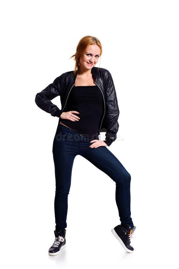 Posizione della donna fotografia stock