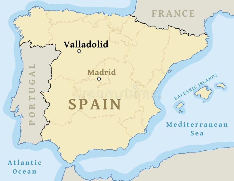 Posizione della mappa di Valladolid illustrazione vettoriale