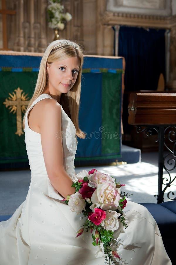 Posizione della sposa fotografia stock