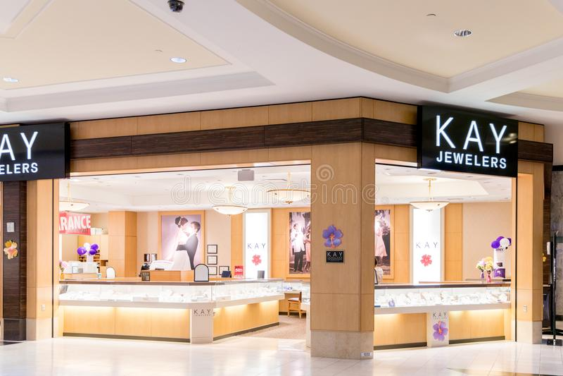 Posizione di Kay Jewelers Retail Strip Mall fotografia stock