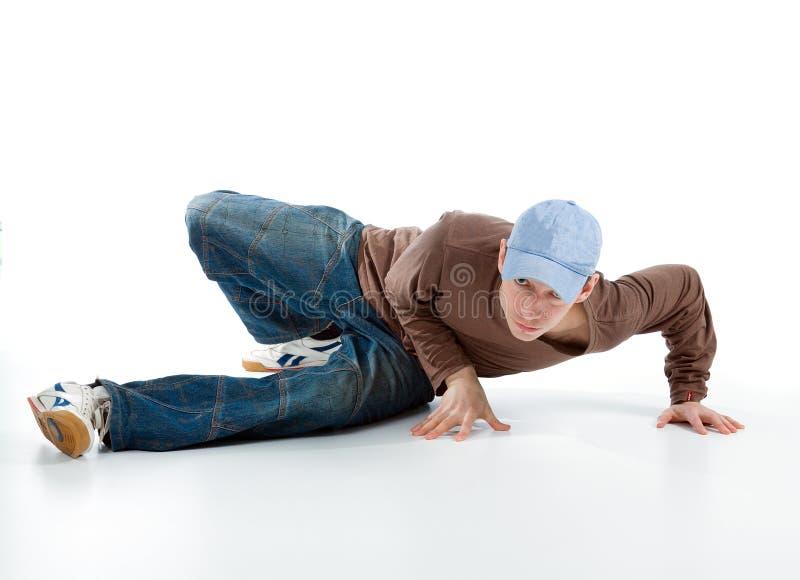 Posizione di sguardo fredda del danzatore immagini stock libere da diritti