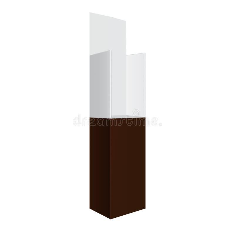 Posizione grigia e marrone bianca esposizione all'aperto/dell'interno di probabilità di intercettazione di pubblicità 3D illustrazione di stock