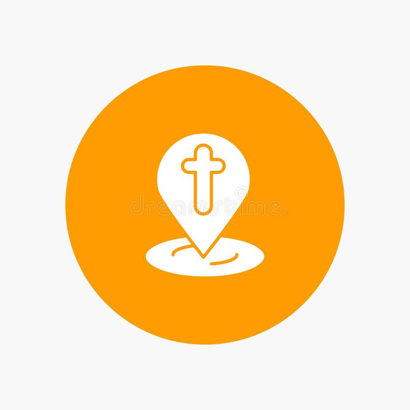Posizione, mappa, Pasqua, Pin illustrazione vettoriale
