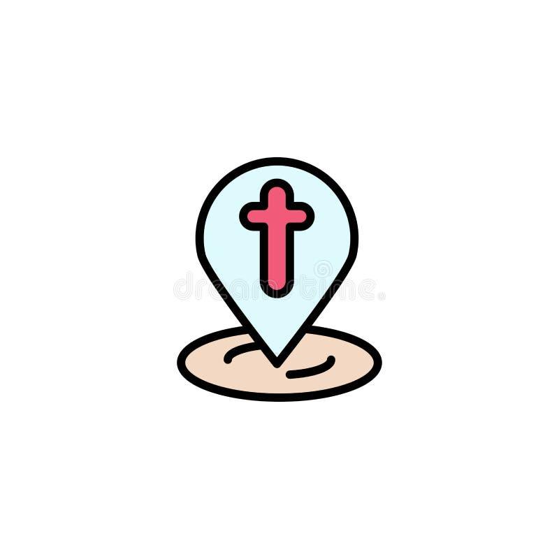 Posizione, mappa, Pasqua, Pin Business Logo Template colore piano royalty illustrazione gratis