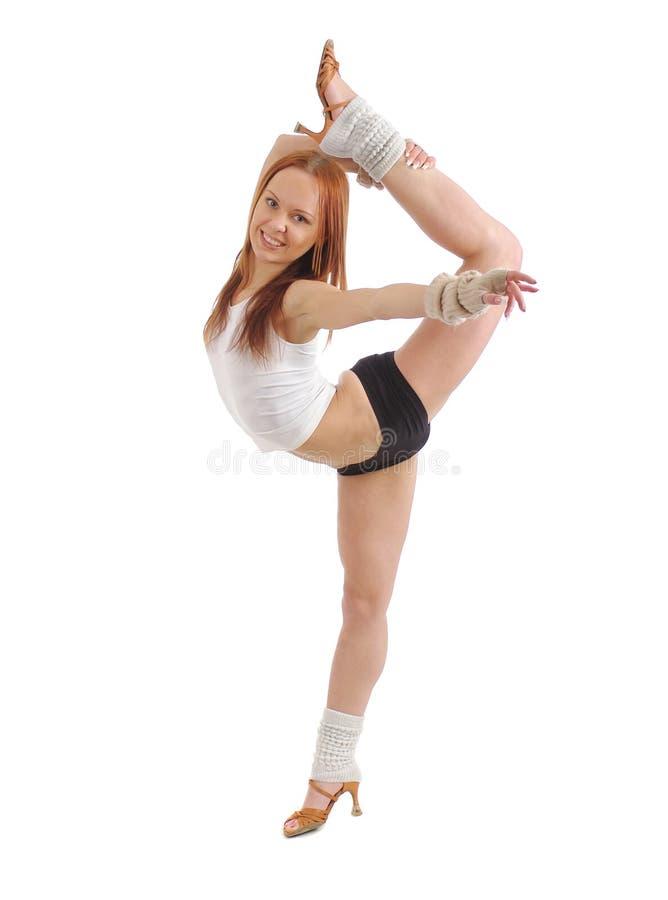 Posizione moderna del danzatore di stile fotografie stock libere da diritti