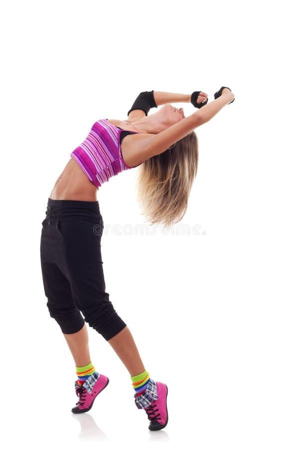 Posizione moderna del danzatore di stile della donna fotografia stock libera da diritti