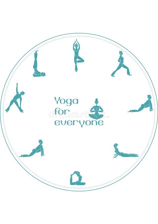 Posizioni di yoga per ognuno immagini stock