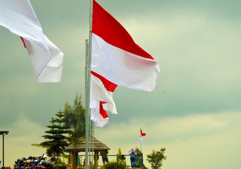 Posong, de Bestemming van ` Instagenic ` van de Aarde van Temanggung Indonesië stock afbeelding