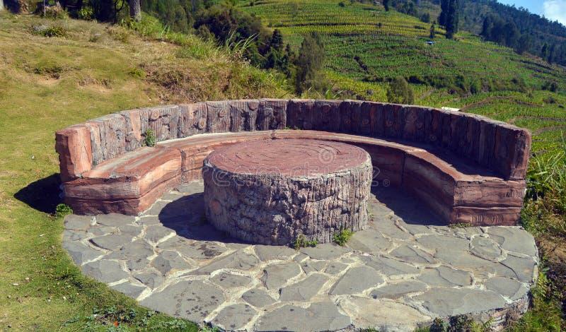 Posong, de Bestemming van ` Instagenic ` van de Aarde van Temanggung Indonesië royalty-vrije stock foto
