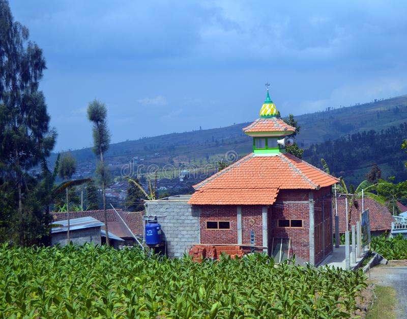 Posong, destination de ` d'Instagenic de ` de la terre de Temanggung Indonésie photographie stock libre de droits