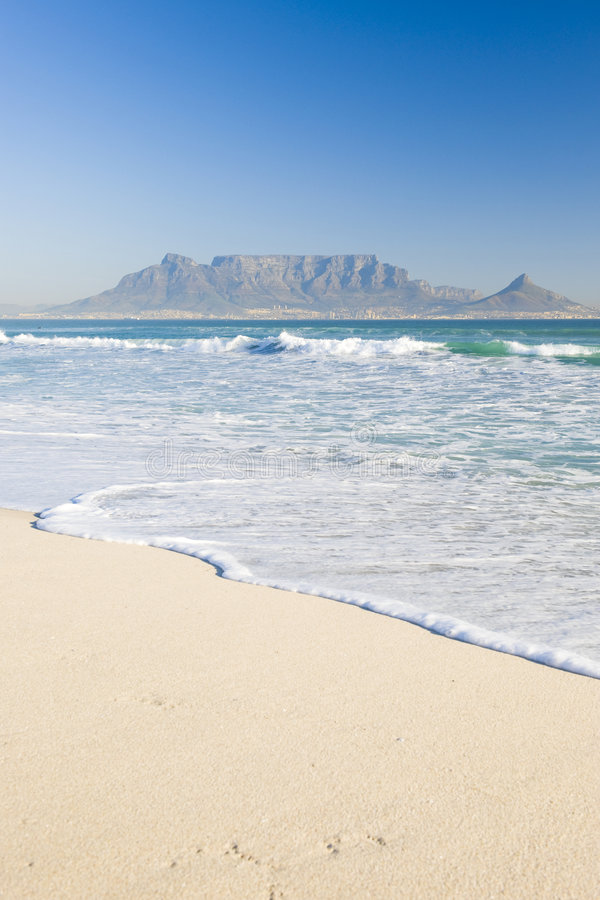 Posponga la montagna Città del Capo immagini stock