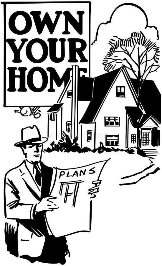 Posséder votre maison 3 illustration stock