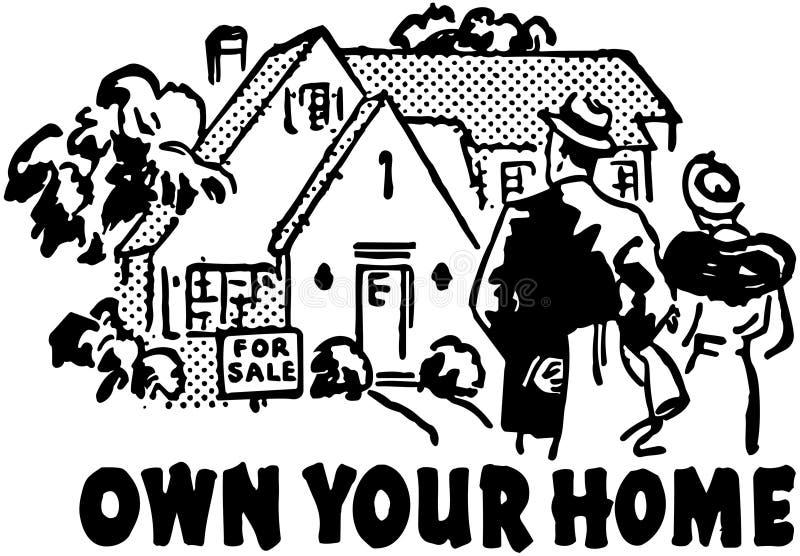 Posséder votre maison illustration stock