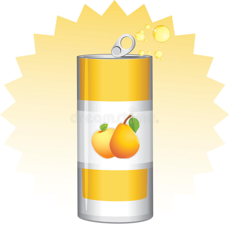 Possa con il succo di frutta illustrazione di stock