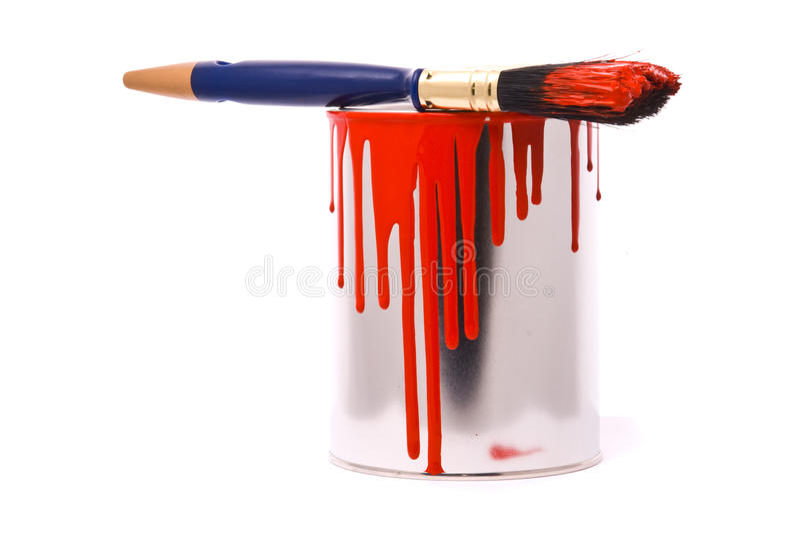 Possa di vernice rossa fotografia stock