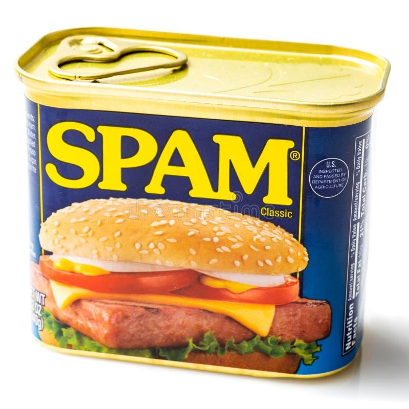 Possa do clássico do Spam foto de stock