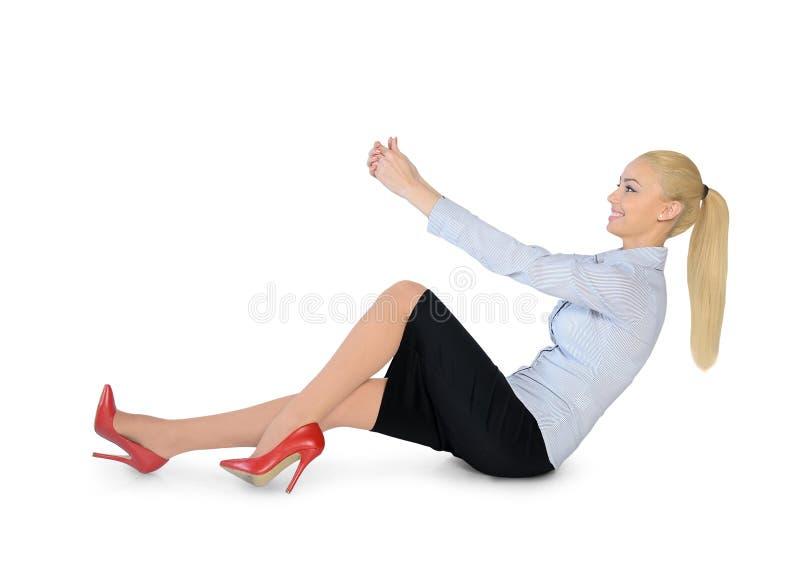 Posse da mulher de negócio algo foto de stock