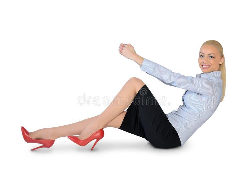 Posse da mulher de negócio algo fotos de stock