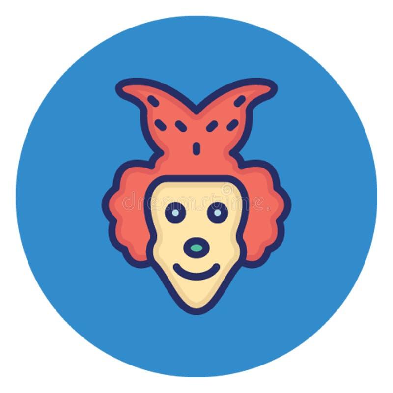 Possenreißer, Clown Vector Icon, der leicht redigieren kann vektor abbildung