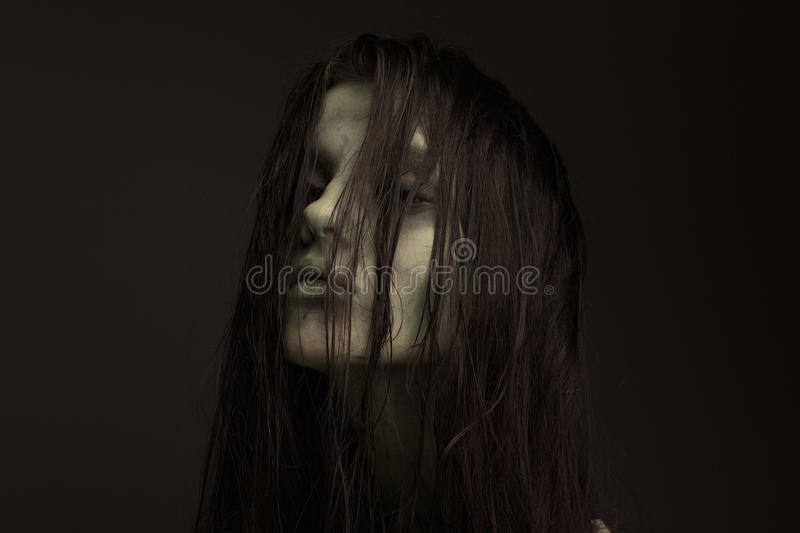 Possessed by the devil. royalty free stock photography