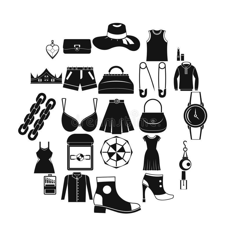 Possessions icons set, simple style. Possessions icons set. Simple set of 25 possessions vector icons for web isolated on white background vector illustration
