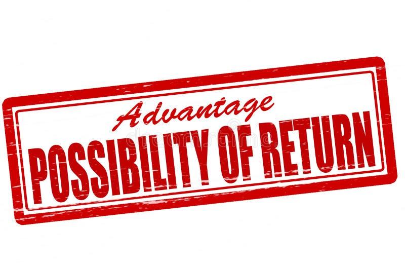 Possibilidade de retorno ilustração royalty free
