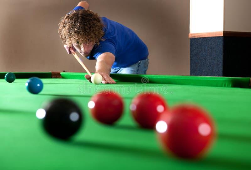 Possibilidade remota do Snooker foto de stock royalty free