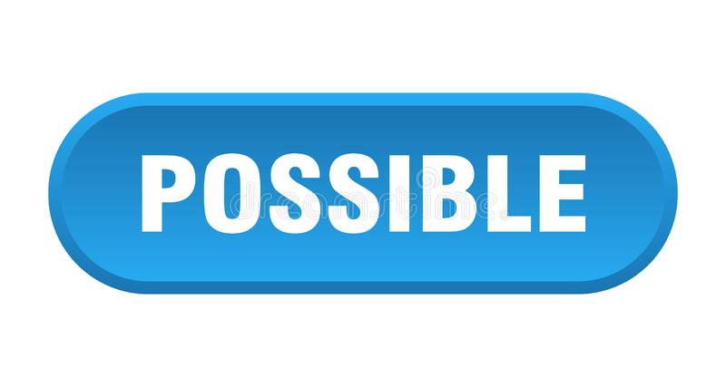 Possible button. Possible rounded isolated sign.  possible vector illustration