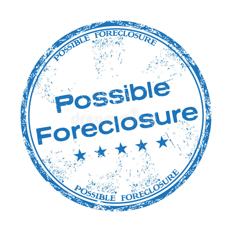 Possible foreclosure rubber stamp royalty free stock photos