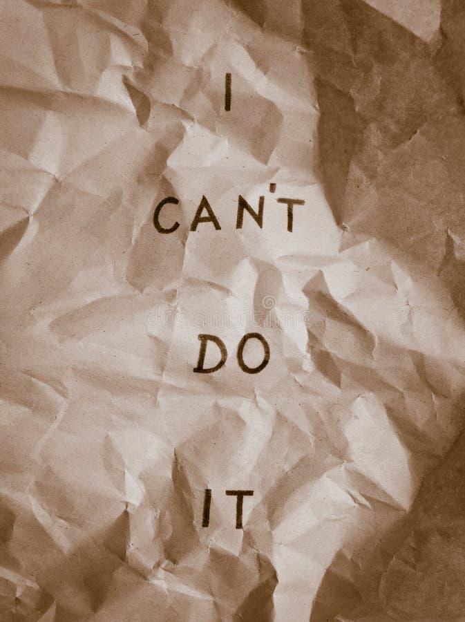 Posso! fotografia stock