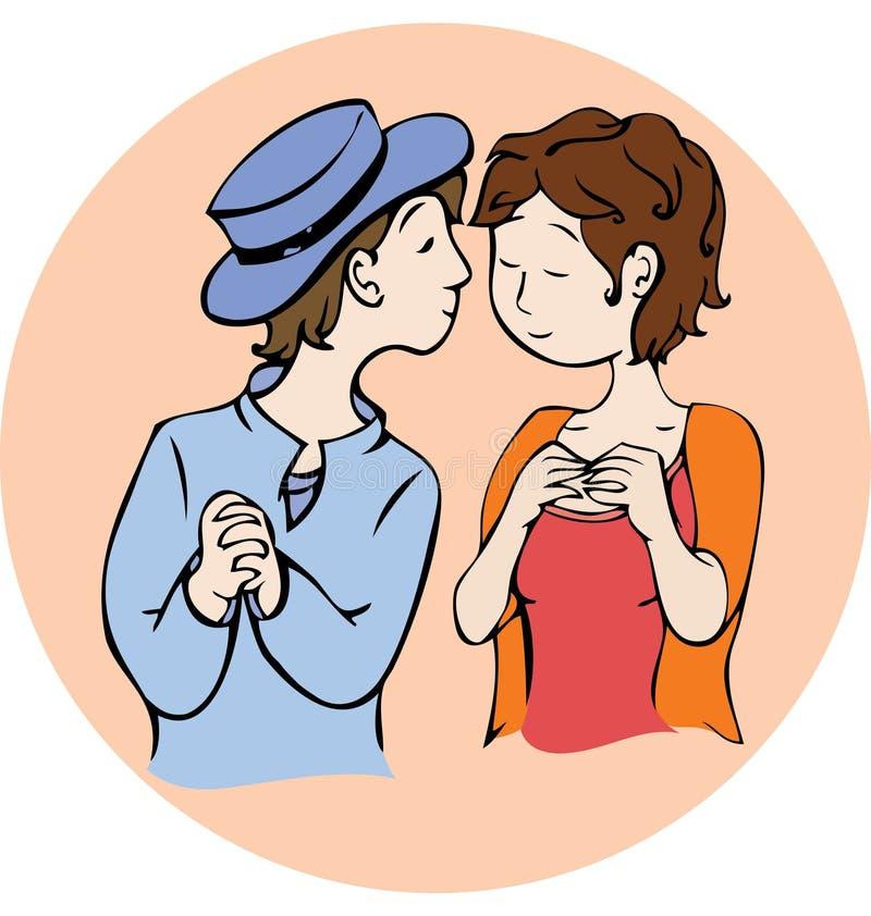 Posso lo bacio royalty illustrazione gratis