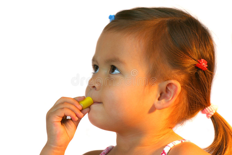 Posso mangiare questa caramella? fotografia stock