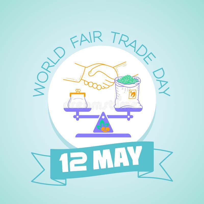 12 possono il giorno del commercio equo e solidale del mondo royalty illustrazione gratis