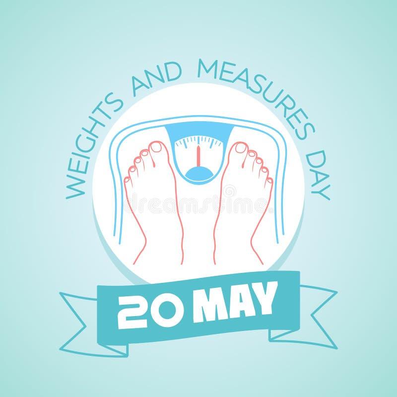 20 possono il giorno delle misure e dei pesi illustrazione di stock