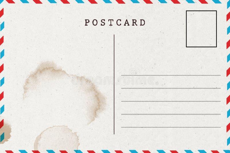 Postérieur de carte postale vide avec la tache illustration libre de droits