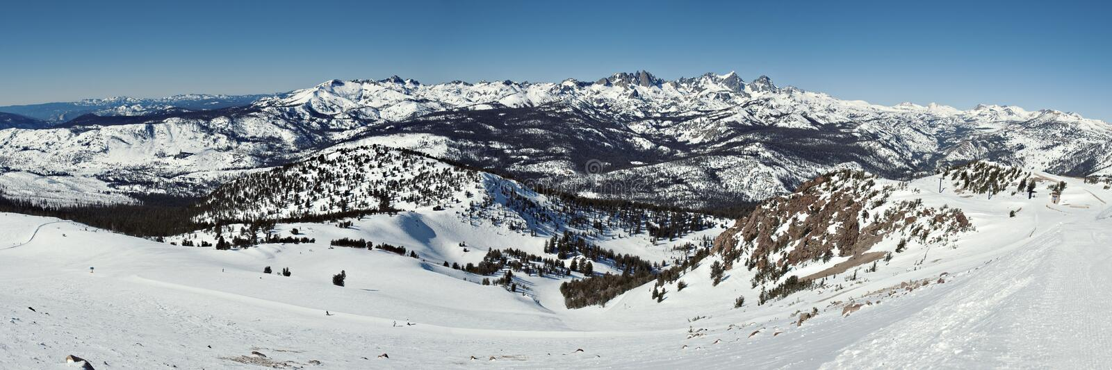 Postérieur de Mammoth Mountain photo stock