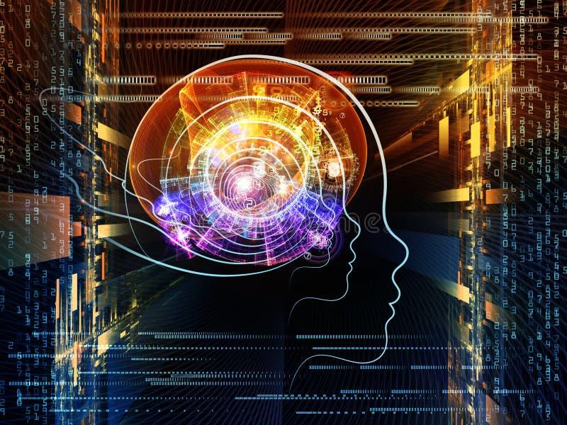 Postęp Inteligentny Życie ilustracja wektor