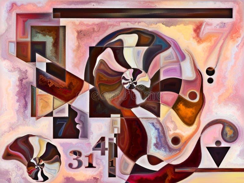 Postęp kolorów wewnętrznych ilustracji